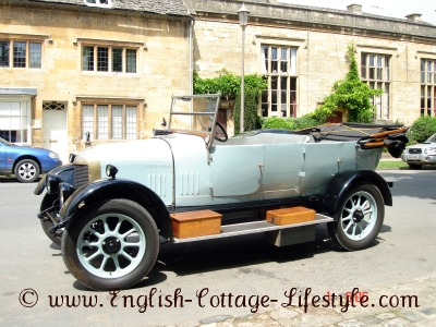 Old car in a Cotswold village